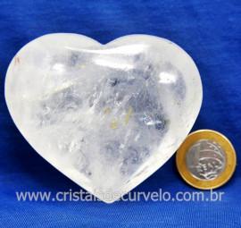 Coração Cristal Comum Qualidade Natural Garimpo Cod 127999