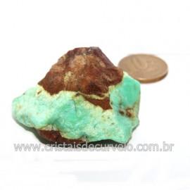 Crisoprasio Bruto Natural Pedra Familia da Calcedonia Cod 123179
