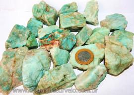 1kg Cascalho Amazonita Verde Bruto Para Orgonite Reff CA2540