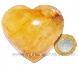 Coração Hematoide Amarelo Natural Presente Ideal Cod 116033