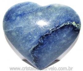 Coração Quartzo Azul Pedra Natural de Garimpo Cod 114998