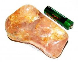 Massageador de Seixo Pedra Quartzo Rosa Natural Cod 102611
