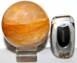 Esfera Hematoide Amarelo Pedra Natural Lapidada Cod EH3869