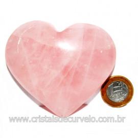 Coração Pedra Quartzo Rosa Natural Pedra do Amor Cod 116000