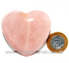 Coração Pedra Quartzo Rosa Natural Pedra do Amor Cod 119142