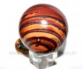 Esfera JASPE RAJADO Pedra Natural Colecionador Lapidado Manual Cod BJR350.9
