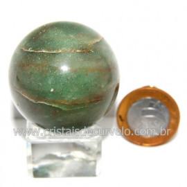 Esfera Quartzo Verde Pedra Natural Bola Lapidado Cod 118797