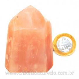 Ponta Pedra Quartzo Goiaba Natural Lapidação Gerador Cod 127914