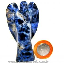 Anjo Sodalita Pedra Natural de garimpo Escultura na Pedra 7cm