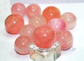 01 Mini Bola Pedra Quartzo Rosa Esfera Pequena Em Pedra Natural Reff 27.9