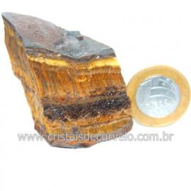 Olho de Tigre Pedra Extra Bruto Natural da África Cod 121222
