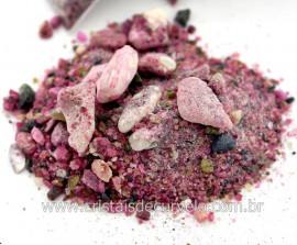 Turmalina Vermelha Pedra Rolado FARELO Pacotinho 20 Gr Mineral Natural