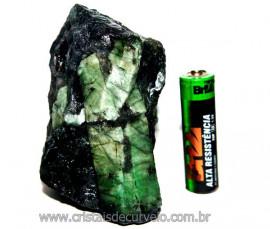 Esmeralda Canudo Incrustado Xisto Pedra Natural Cod CE1786
