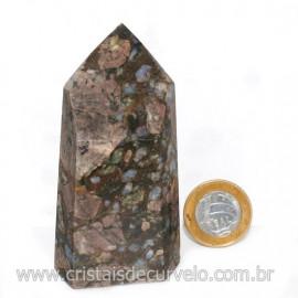 Ponta Riolita Lava Vulcanica Lapidada Sextavado Cod 128771