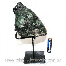 Esmeralda Canudo Pedra Natural com Suporte De Ferro Cod 119347