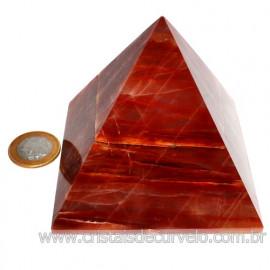 Pirâmide GRANDE Pedra Aragonita Vermelha Natural Queops 119033