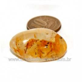 Hematoide Amarelo com Inclusão Dendrita Pedra Natural Cod 126205