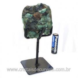 Esmeralda Canudo Pedra Natural com Suporte De Ferro Cod 121541