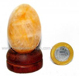 Ovo Hematoide Amarelo Mineral Natural de Garimpo Cod OH7469