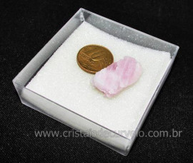 Kunzita Rosa Pedra Natural Fonte de Lítio No Estojo Cod 104724