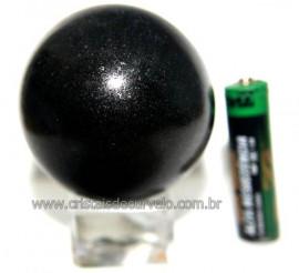 Esfera Pedra Quartzo Preto ou Quartzito Natural Cod BP2356