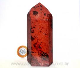 Ponta Obsidiana Mahogany ou Mogno Pedra Vulcanica Cod PM1165