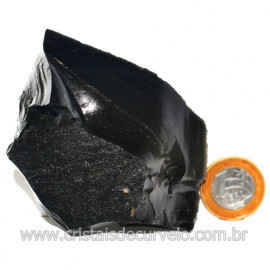 Obsidiana Negra Mineral Vulcanico Pedra Natural Cod 123975