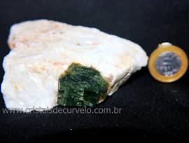 Turmalina Melancia Pedra Incrustado Quartzo Bruto Cod 106161