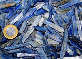Cianita Azul Laminas Pedra Bruta Natural Pct 200Gr REFF 107365