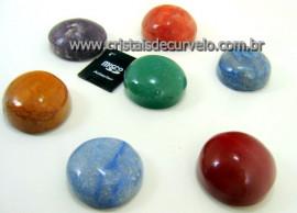 Kit 7 Pedras Cores Dos Chakras Meditação Abrindo Portais Chacras Tamanho Medio