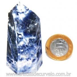 Ponta Sodalita Pedra Natural Gerador Sextavado Cod 119958