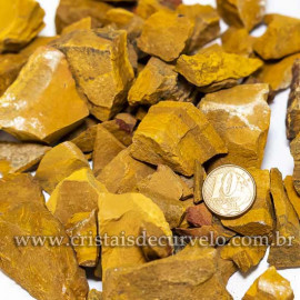 3kg Cascalho Jaspe Amarelo Bruto Natural Para Orgonite