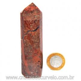 Ponta Quartzo Jiboia Lapidado Gerador Sextavado Cod 119992