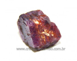 Rubi Canudo Sextavado Pedra Bruto Natural Garimpo Cod 107437