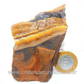 Olho de Tigre Pedra Extra Bruto Natural da África Cod 121224