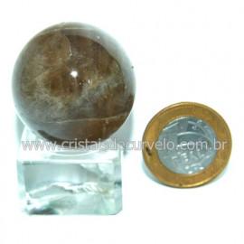 Bola Pedra Citrino Natural Mineral Garimpo Esfera Cod 118836