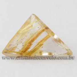 Rutilo Gema Trillion Pedra Natural Montar Prata e Ouro 112762