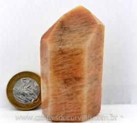 Ponta Amazonita Rosa Pedra Extra Natural Lapidado em Gerador Sextavado Cod 134.8
