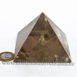 Pirâmide GRANDE Pedra Quartzo Fumê Natural Queops cod 120724