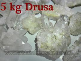 5 KG De Pequenas Drusas de Cristal Pontas Quartzo Comum ATACADO