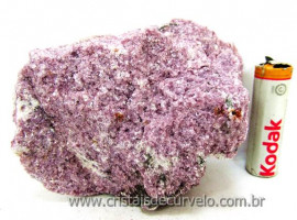 Lepidolita Mica Mineral Para Colecionador Pedra Natural de Garimpo Cod 324.2