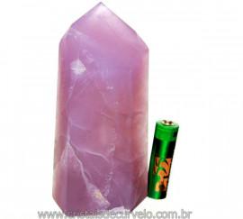Ponta Fluorita Roxa Lapidado Pedra Natural Tom Purpura PF9846