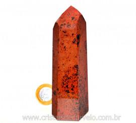 Ponta Obsidiana Mahogany ou Mogno Pedra Vulcanica Cod PM9533