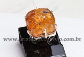 Anel Prata 950 Cristal Lodolita Natural Aro Ajustavel 112378