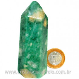 Ponta Jade Verde Extra Lapidado Pedra Natural Garimpo Cod 126756