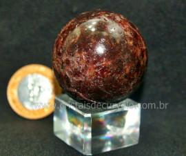 Esfera Granada Rodolita Bola Pedra Natural Garimpo Cod EG1953