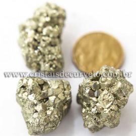 03 Pirita Peruana Pedra Bruto 16 mm Aprox 10 a 20 GR Cada