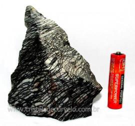 Jaspe Net Pedra de Garimpo Com Listras Naturais Cod JN5949