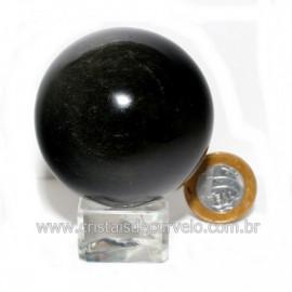 Esfera Obsidiana Negra Pedra Lava Vulcanica Natural 126121