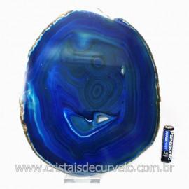 Chapa de Agata Azul Porta Frios Bandeja Pedra Natural 123500